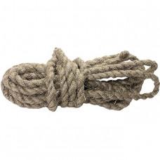 Веревка льнопеньковая, D 10 мм, L 10 м, крученая СИБРТЕХ 94009
