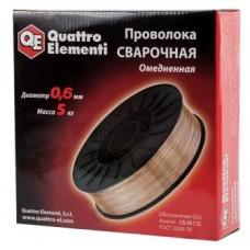 Проволока QUATTRO ELEMENTI сварочная омедненная 0.6мм 5.0кг коробка 770-346