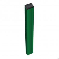 Столб для забора профильный / 40х40х1,5 h-3,0м / RAL 6005