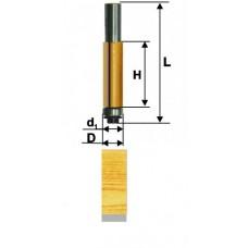 Фреза кромочная прямая ф. 9.5 х25мм хв.8мм, ЭНКОР 10521