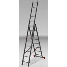 Лестница алюминиевая 3 секции по 6 ступеней