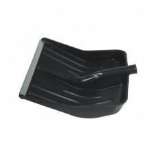 Лопата для уборки снега, 400 х 420 мм, б/ч, пластмассовая, алюминиевая окантовка СИБРТЕХ 61430
